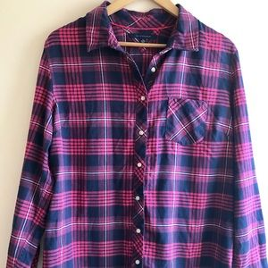 Tommy Hilfiger Plaid Check Button Down Shirt